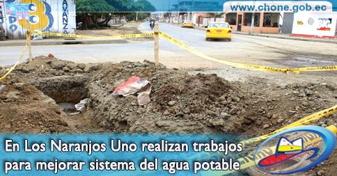 En Los Naranjos Uno realizan trabajos para mejorar sistema del agua potable