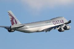 A7-BGB 747-8F Qatar Airways Hong Kong