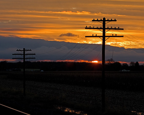 Sunrise along the old NYC Railroad (NS Chicago Line)
