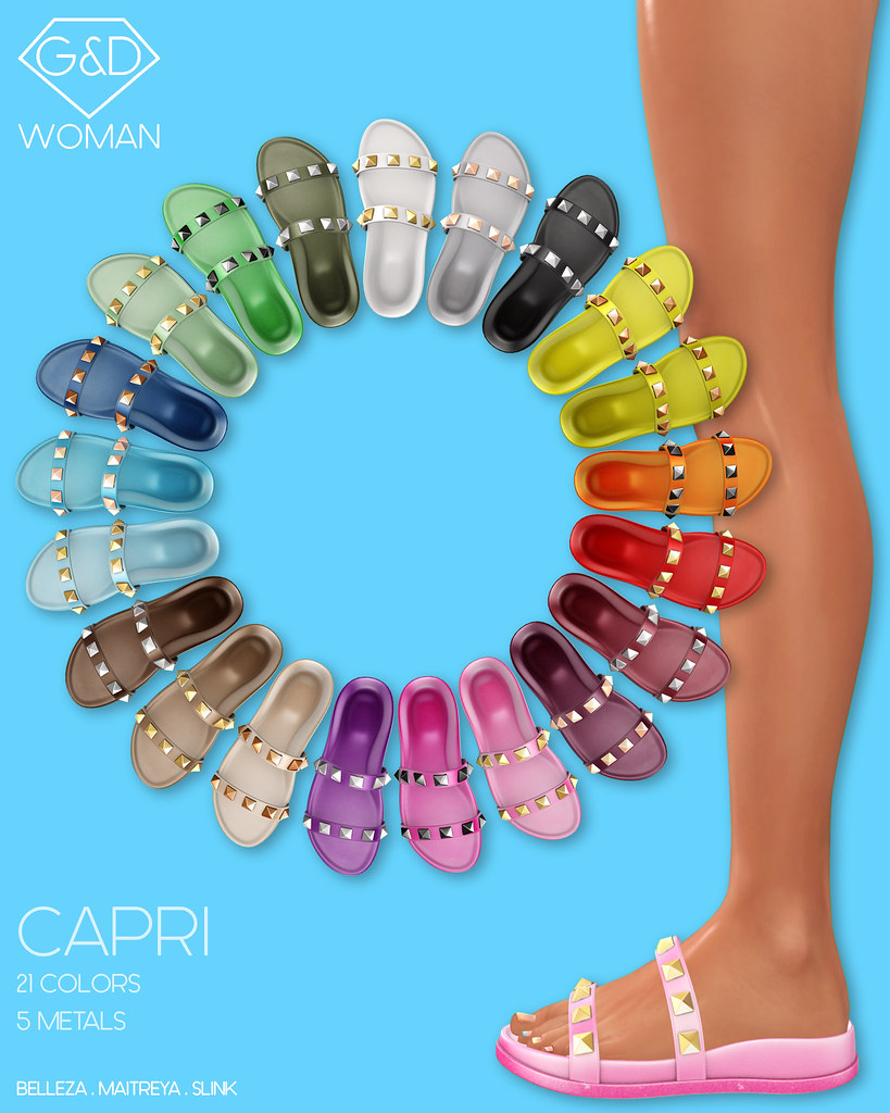 G&D Woman Slide Sandals Capri adv