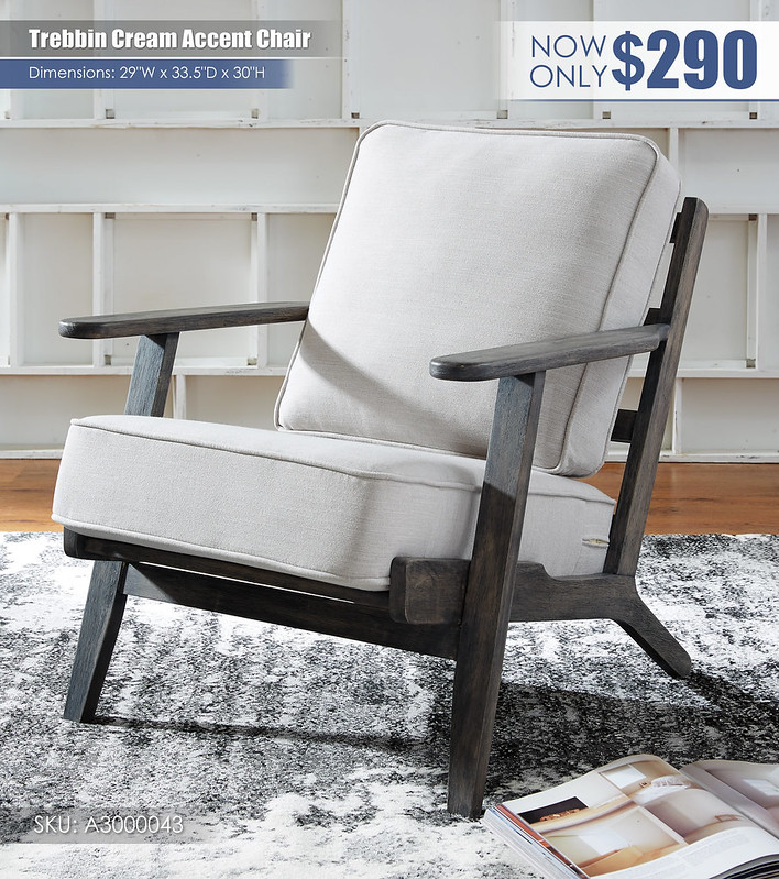 Trebbin Cream Accent Chair_A3000043