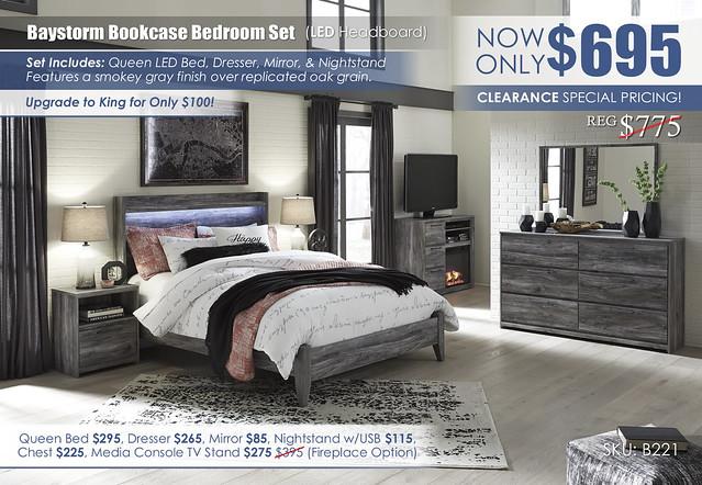Baystorm LED Bedroom Set_B221-31-36-48-57-54-91_Clearance