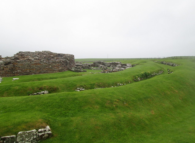 Broch of Gurness, Showing Outer Rampart Wall