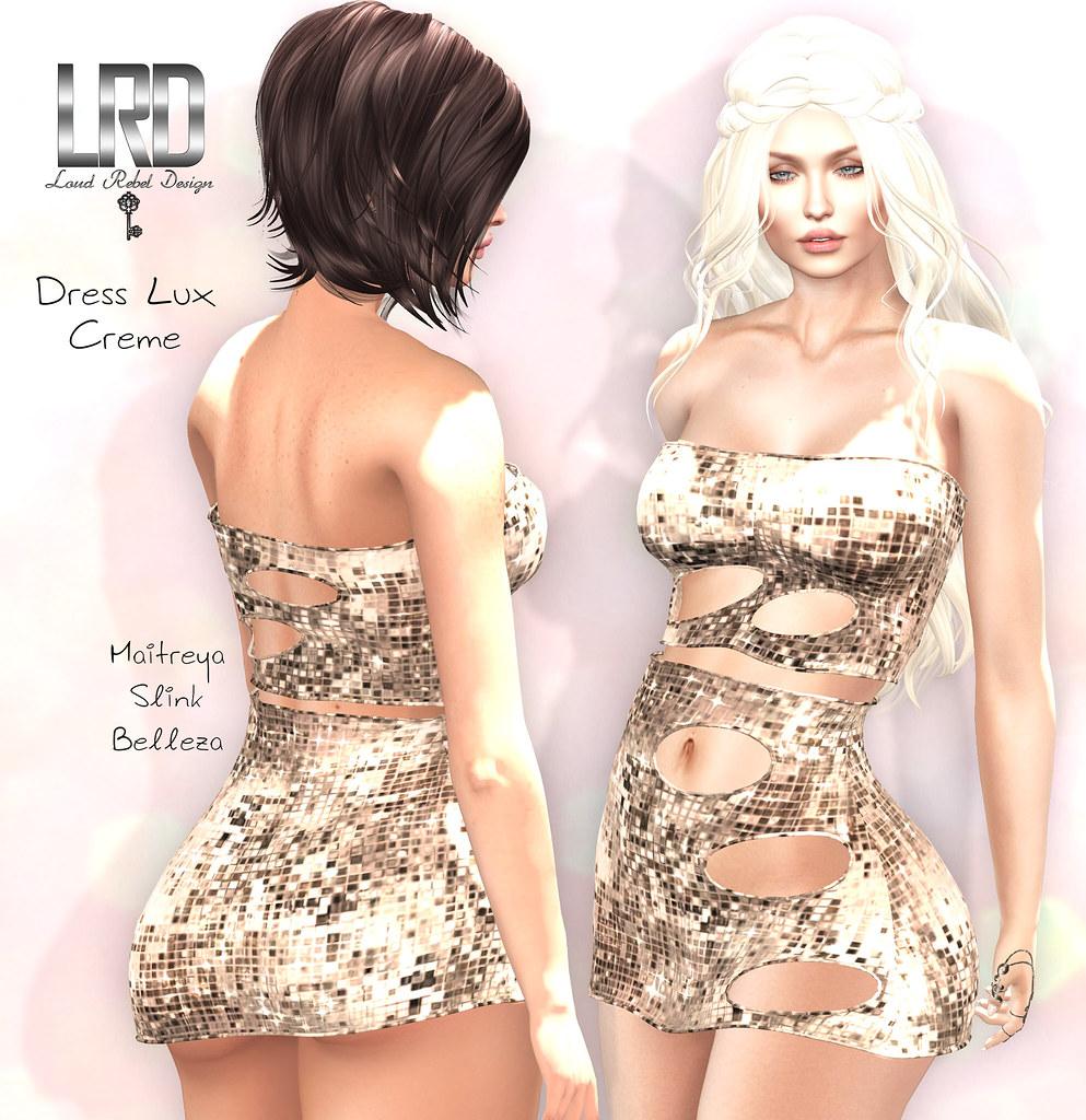 LRD Lux dress creme - TeleportHub.com Live!