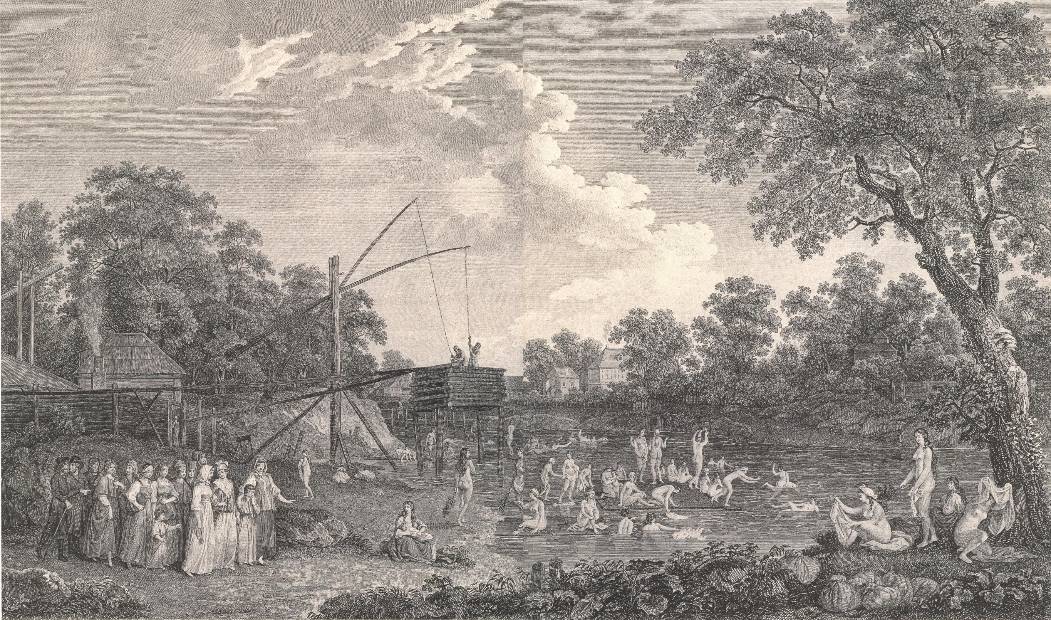 1779. Вид Серебрянических бань и окружностей их2
