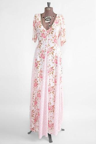 Flat $28 OFF - Women's Vintage Pretty in Pink Flowers Dress