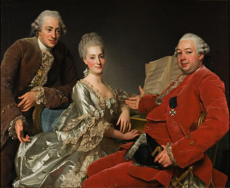 Alexander Roslin - John Jennings Esq., his Brother and Sister-in-Law (1769)