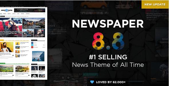 Theme Tin Tức WordPress Newspaper v8.8.2 Mới Nhất
