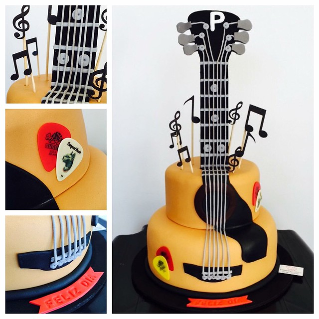 Guitar Cake by Johanna Power of Power Cakes