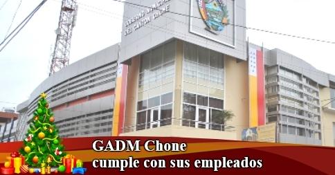 GADM Chone cumple con sus empleados