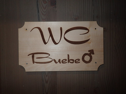 Toilet sign buebe
