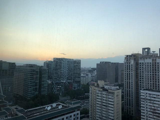 Beijing - Dongzhimen sun set