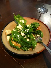 Spinach salad - made with spinach from High Garden!