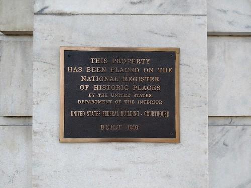 Gadsden, Alabama - United States Federal Building - Courthouse National Register Marker