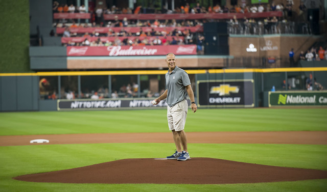 Bragga first pitch at Astros' game