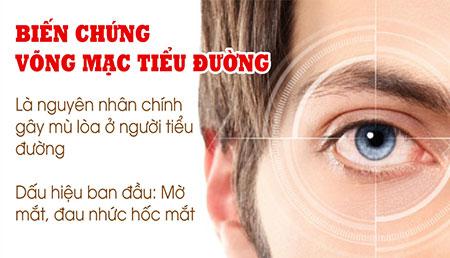 Biến chứng tiểu đường trên mắt có thể gây mù lòa