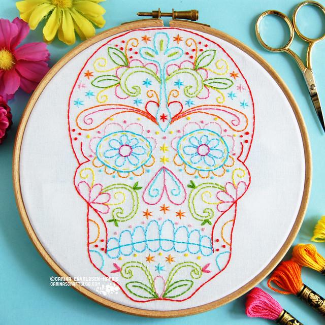 Calavera Sugar Skull pattern