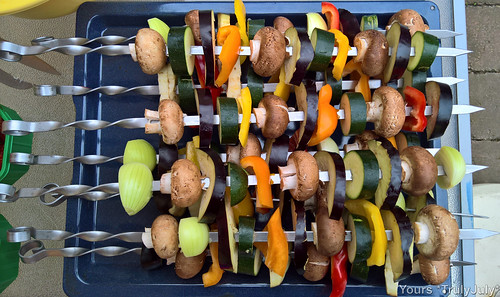Yum veggie kebabs, easy to make and great to share.