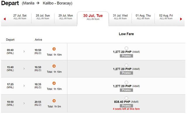AirAsia Promo Manila to Kalibo
