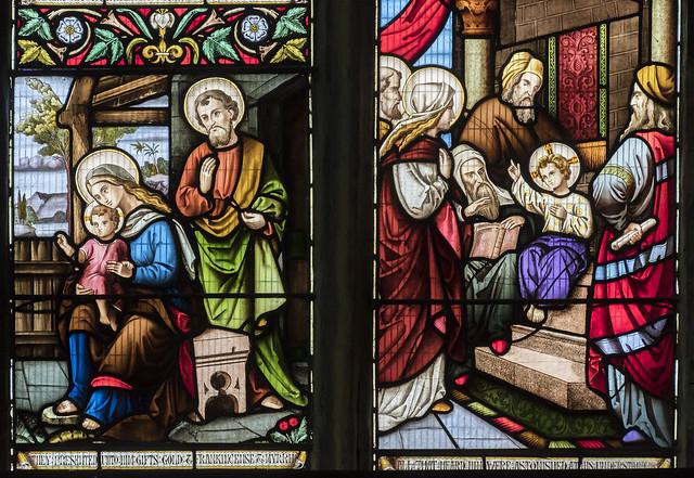 Epworth, St Andrew's church, East window detail