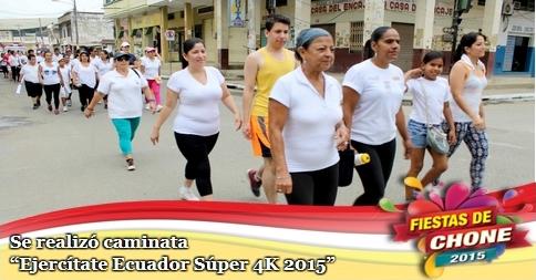Se realizó caminata Ejercítate Ecuador Súper 4K 2015