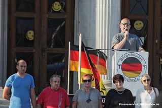 2018.07.16 Rathenow - Versammlung extrem rechtes Buergerbuendnis Havelland (11)