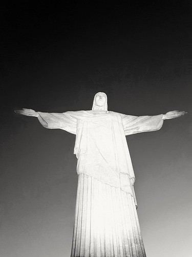 Christ the redeemer b/w