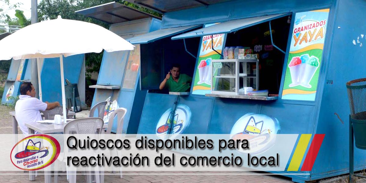 Quioscos disponibles para reactivación del comercio local
