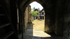 VIEW FROM DOORWAY OF A SMALL CHURCH.