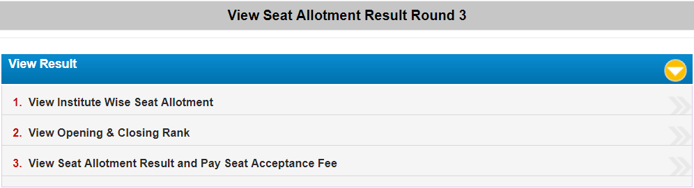WBJEE Seat Allotment Round 3