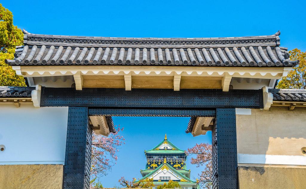 Osaka Castle framed