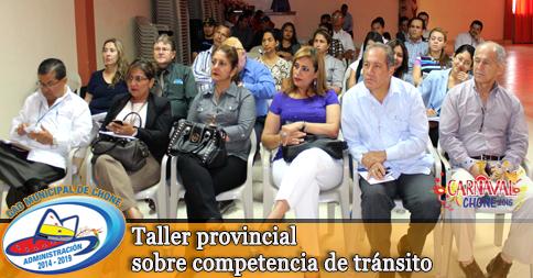 Taller provincial sobre competencia de tránsito