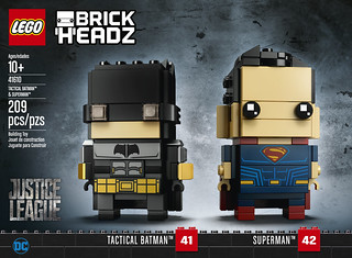 41610 Tactical Batman & Superman Brickheadz - Front