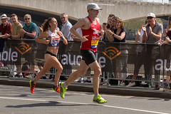 Paul Quinton, Georgia Porter - London Marathon 2018