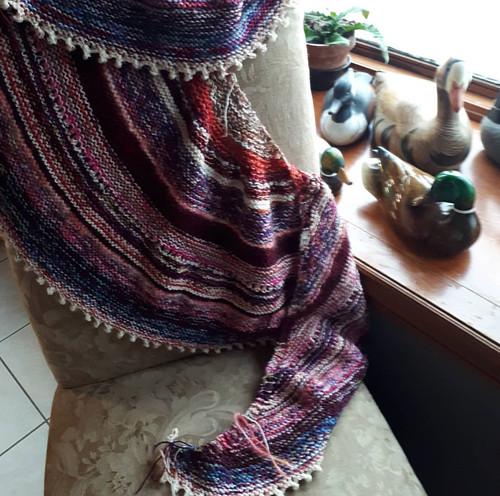 Paulette's leftovers shawl