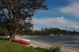 Boats at Oneroa Beach