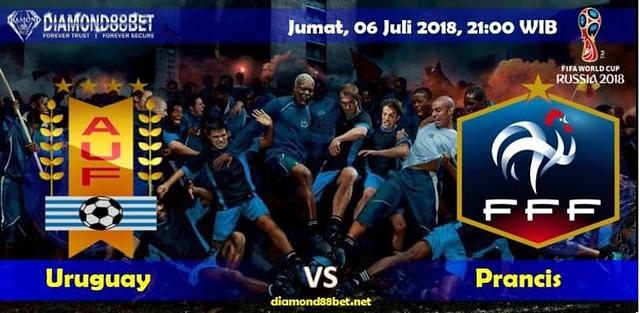 Prediksi Bola Uruguay vs Perancis ,Hari Jumat, 06 Juli 2018 – Piala Dunia