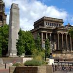 Preston's Harris Museum with Cenotaph