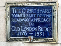 Photo of Old London Bridge blue plaque