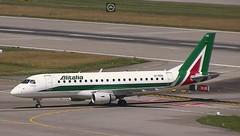 Alitalia Embraer E175 EI-RDG Geneva diversion to Zurich Airport webcam