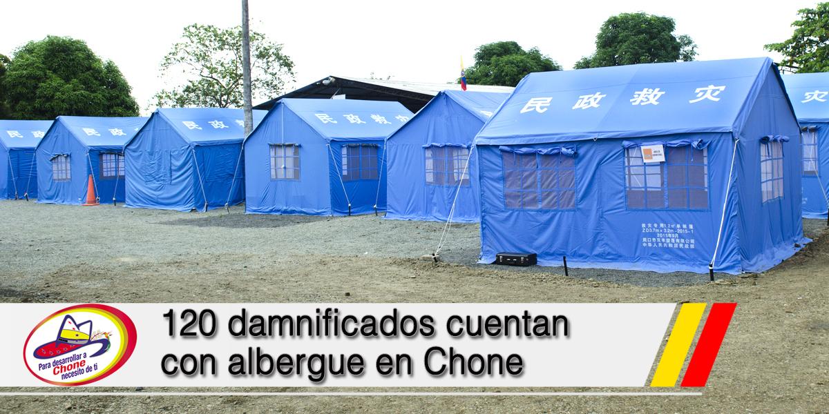120 damnificados cuentan con albergue en Chone