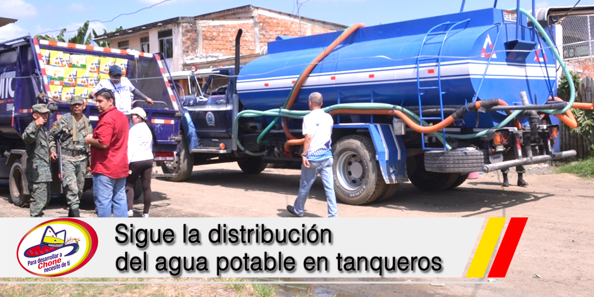 Sigue la distribución del agua potable en tanqueros