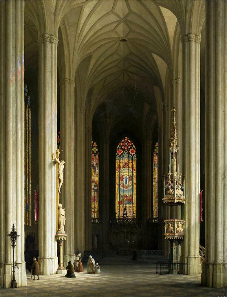 Max Emanuel Ainmiller - Inneres einer gotischen KircheInterior of a Gothic church (1844)