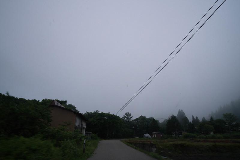 曇り空の奥会津