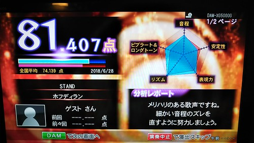 ホフディランカラオケ STAND