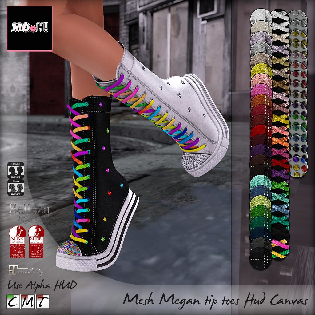 Megan tip toes hud canvas