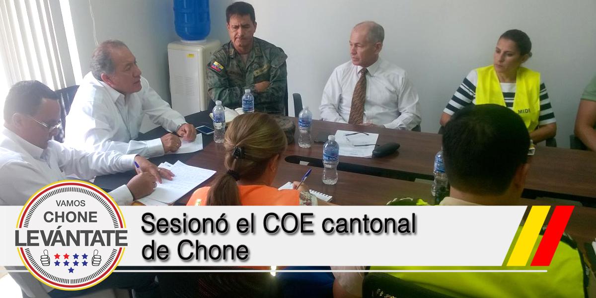 Sesionó el COE cantonal de Chone
