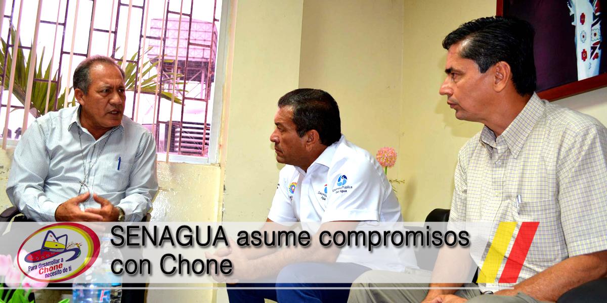 SENAGUA asume compromisos con Chone