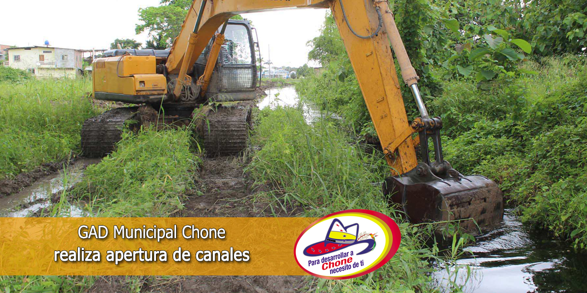 GAD Municipal Chone realiza apertura de canales