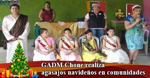 GADM Chone realiza agasajos navideños en comunidades